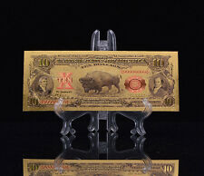 """<MINT GEM CONDITION>1899 """"GOLD"""" BISON Banknote W/ COA~ US SELLER~FAST SHIPPING!a"""