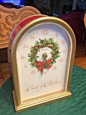 HOWARD MILLER 645-424 CAROLS OF CHRISTMAS II MUSICAL CLOCK