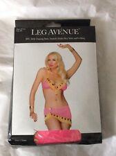 Belly Dancer Babe Leg Avenue Pink Costume Skirt Bra G-string M UK 10-12