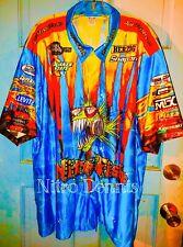 NHRA Tony PEDREGON Crew Shirt NITROFISH Jersey RACE WORN Nitro FUNNY CAR Racing