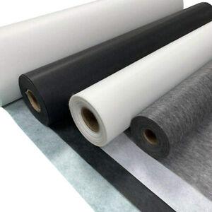 Fusible Iron On Interfacing Buckram Light Weight White Grey Black 75cm 90cm Wide