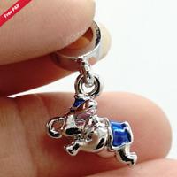Flying Dumbo Pendant Charm Bead for Genuine 925 silver Bracelet Disney Elephant