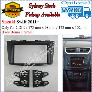 Fascia facia Fits Suzuki Swift 2011+ Double Two 2 DIN Dash Kit