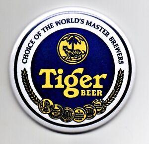 """Tiger Fridge Magnet Beer Mat Bar Ale  3"""" 75mm Blade  Sub Badge lager"""