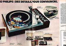 PUBLICITE ADVERTISING 104  1973  PHILIPS   éléctrophone  stéréo  ( 2 pages)