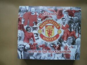 LEGENDS OF MANCHESTER UNITED DESK CALENDAR BLOCK 2001