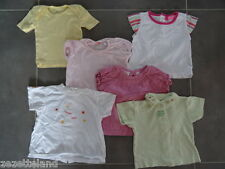 Lot 6 T-shirts (MARESE, OKAOU, PICK OUIC, TOM KIDDY...) taille 6 Mois / 67cm