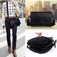 Men Business Leather Messenger Shoulder Satchel Laptop Briefcase Crossbody Bag