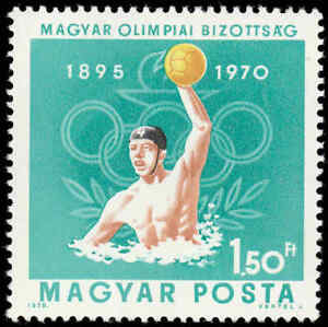 Scott # 2039 - 1970 - ' Water Polo & Olympic Rings '
