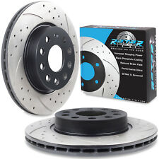 FRONT DRILLED GROOVED 280mm BRAKE DISCS FOR AUDI A3 1.6 1.9 TDI QUATTRO 03+
