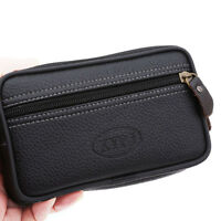 Men's Large Space Zippered Leather Wallet Phone Multi-function Double-layer EA
