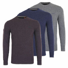 Wool Blend Crew Neck Thin Knit Jumpers & Cardigans for Men