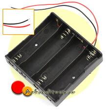 Case Portabatterie Caricabatterie Porta 4 Pile 18650 con Cavo 12,7cm Nuovo