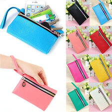 Womens Card Holder Wallet Coin Purse Clutch Zipper Leather Small Change Bag