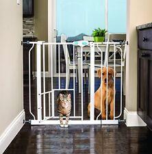 NEW! Carlson Extra-Wide Walk-Thru Safety Gate w/ Pet Door Dog Cat 37in 3DAYSHIP