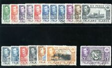 Falkland Islands 1938 KGVI set complete very fine used. SG 146-163.