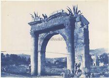 Saint-Jean-Cap-Ferrat Ruines Photo James Jackson Vintage Cyanotype 1886