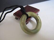 100% Natural type A jadeite jade big circle pendant J00113