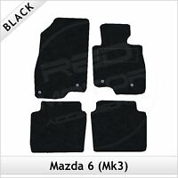 Mazda 6 Mk3 2013 onwards Fully Tailored Fitted Carpet Car Floor Mats BLACK