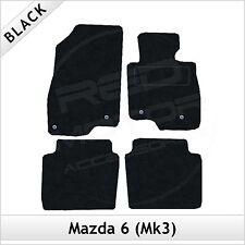 Mazda 6 Mk3 2013 onwards Fully Tailored Fitted Carpet Car Floor Mats BLACK
