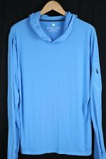 Free Fly Mens sz XL Blue Lightweight Bamboo Pullover Hoodie
