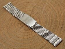 Vintage NOS JB Champion Stainless steel 17mm mesh watch band bracelet 1960s