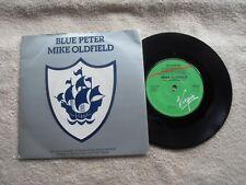 "MIKE OLDFIELD BLUE PETER VIRGIN RECORDS UK 7"" VINYL SINGLE in PICTURE SLEEVE"
