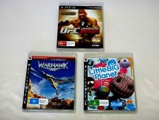 "UFC UNDISPUTED 2010,WARHAWK and LITTLE BIG PLANET PS3 (PAL Region 4) -""LIKE NEW"""