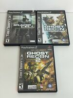 Lot of 3 - Splinter Cell & Ghost Recon Video Games  (PlayStation 2, PS2)