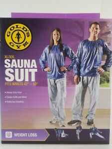 "Gold's Gym Sauna Suit XL / XXL PANTS ONLY Fits Waist Sizes 36""-44""  Gray Unisex"