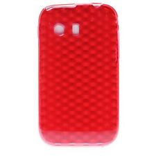 Housse Coque Etui Samsung Galaxy Y silicone gel Protection arrière - Rouge