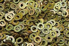 (1000) Hardened 3/8 Flat Washer F436 SAE Grade 8 - Yellow Zinc Plated Thru-Hard