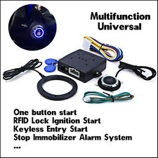 Car Auto Engine Push Start Button Keyless Entry Alarm RFID Lock Ignition Starter