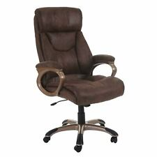 Bürostuhl Dallas, Schreibtischstuhl Drehstuhl Chefsessel, Wildlederimitat taupe