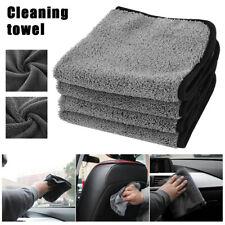 4 Pack Microfiber Cleaning Cloth No-Scratch Rag Car Polishing Detailing Towel