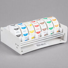 """Noble Products 7-Slot White Plastic Label Dispenser with 1"""" Slots"""