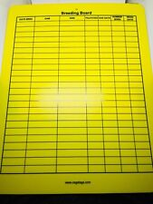 Cage Tags Rabbit Breeding Board, Yellow