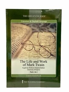 The Great Courses: The Life & Work of Mark Twain (Guidebook & 24 Lectures) New