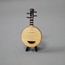 Beautiful Mini Yueqin Miniature Folk Asian Musical Instrument 5 Inch Great Gift