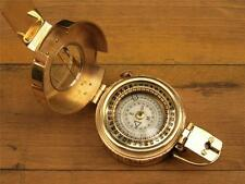 SOLID BRASS REPLICA WW2 MILITARY SOLDIERS NAVIGATION COMPASS 1940 MARK111 LONDON