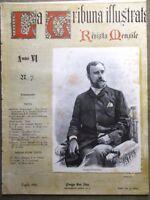 La Tribuna Illustrata Mensile Luglio 1895 Emanuele Ruspoli Alpi Giulie Rizzotto