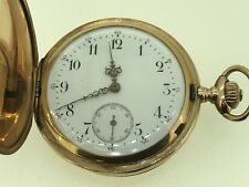 Antique 14K Yellow Gold Zenith Pocket Watch with Hunter Case