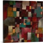 ARTCANVAS Redgreen and Violet-Yellow Rhythms 1920 Canvas Art Print by Paul Klee