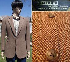 vintage 70's POLO RALPH LAUREN wool tweed blazer hacking riding jacket mens 39 R