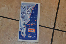 Travel Map Primary Routes New England to Florida 1958 Rand McNally