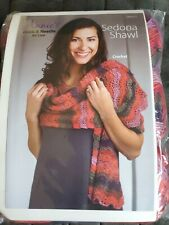 Annie's Hook & Needle kit - Sedona Shawl Crochet Pink Purple New