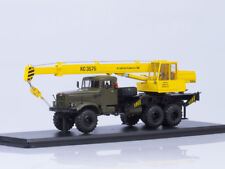 Scale model truck 1/43 Mobile crane KS-3575 (on the chassis KRAZ-255B1)