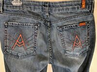 7 FOR ALL MANKIND Women's A Pocket Crop Jeans Medium Wash Size 30