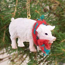 PIG Hog Sow Pink with Scarf Tiny One Miniature Christmas ORNAMENT