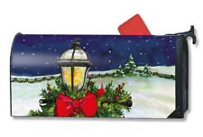 "CHRISTMAS HOME FOR THE HOLIDAYS LAMP POST MAGNETIC MAILBOX COVER & 1"" NUMBERS"